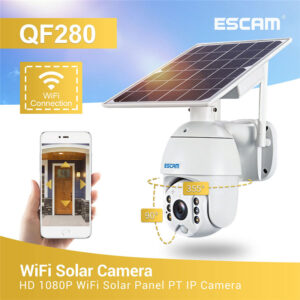 Camera rotativa PTZ cu panou solar ESCAM QF280 1080P