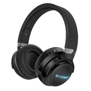 Casti BlitzWolf® BW-HP0 Pro Wireless bluetooth Headphone RGB Light HiFi Stereo Bass,Negru